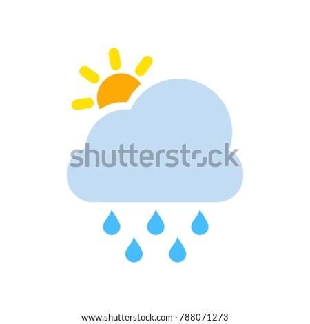vector rainy symbol - weather forecast
