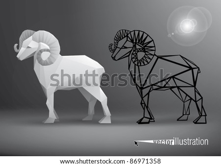 vector ram stylized triangle