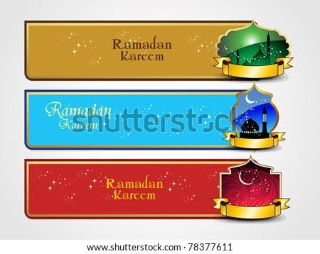 vector ramazan mubarak banner