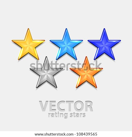 Vector rating stars 5 colors
