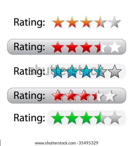 Vector rating stars for web design