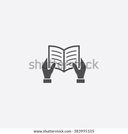 vector read book icon
