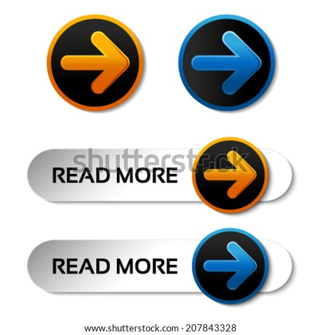 vector read more buttons with