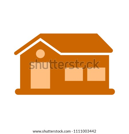 vector real estate house concept. construction design - property building illustration
