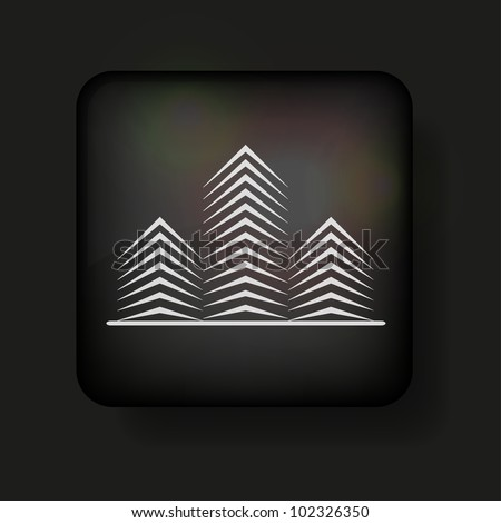 Vector real estate icon on black. Eps 10