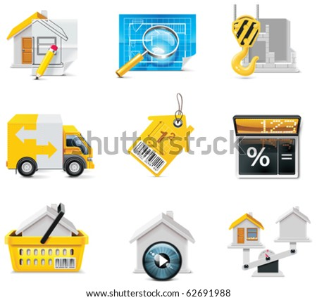 vector real estate icons part 2