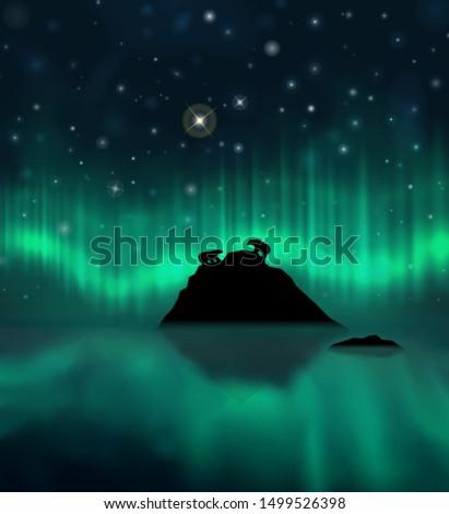 vector realistic arctic winter