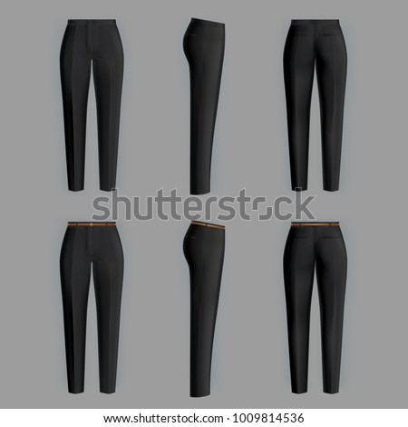 vector realistic black trousers
