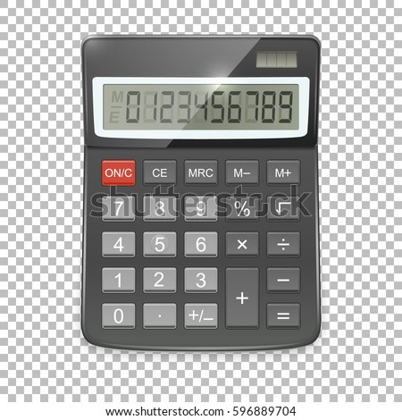 vector realistic calculator...