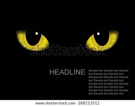 vector realistic cat eyes on