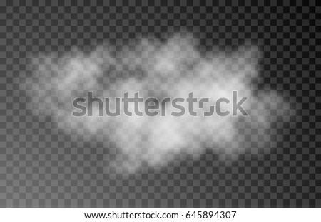 vector realistic cloud on dark