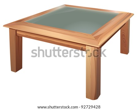 vector realistic coffee table on white background, raster version available