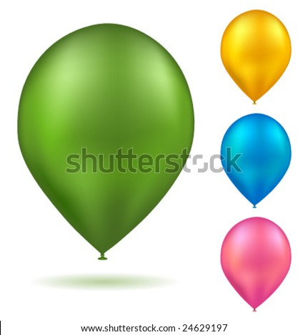 Vector realistic colorful balloons