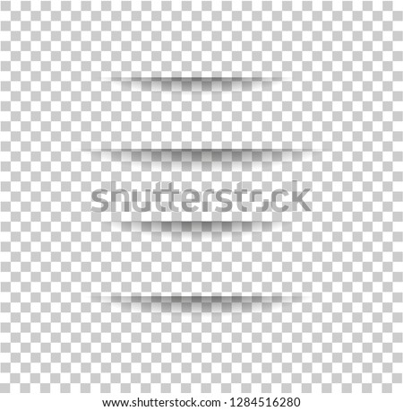 Vector realistic Cuts in paper sheet with a shadow on transparent background. 3d incision in the paper. parallel lines. Template for your design. Foto stock ©