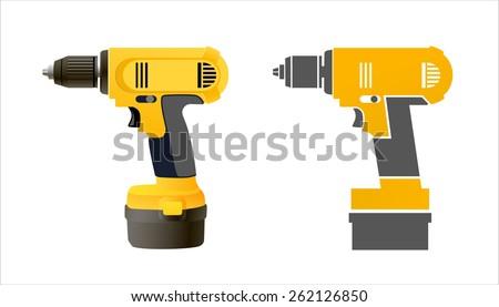 Vector realistic drill icon