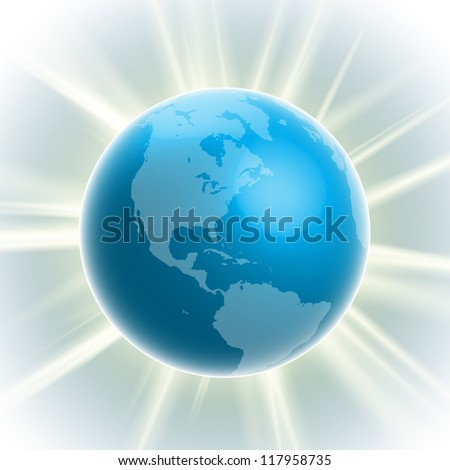 vector realistic earth bulb