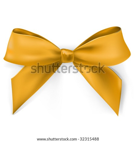 vector realistic gold bow