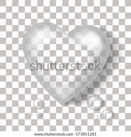vector realistic heart shaped