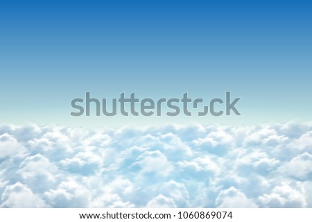 5effe0d0391 Vector realistic isolated blue sky background with fluffy clouds for  decoration and covering.