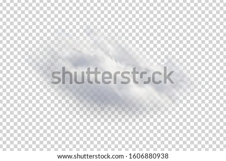 Vector realistic isolated cloud for template decoration and mockup covering on the transparent background. Concept of storm and sky.