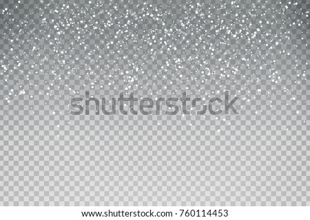 Vector realistic isolated snow for decoration and covering on the transparent background. Concept of Merry Christmas and Happy New Year.