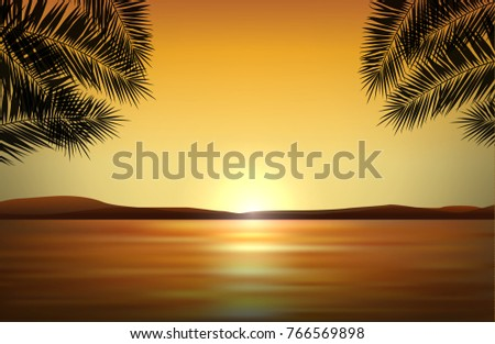 vector realistic landscape with