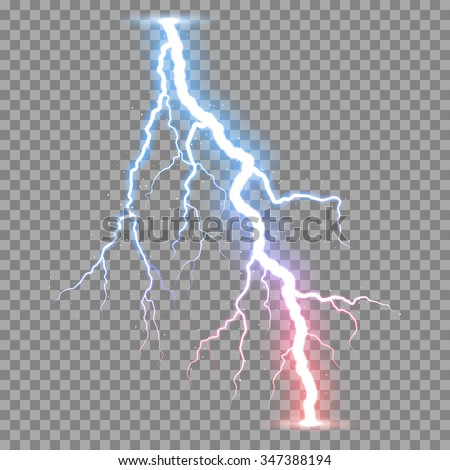 vector realistic lightnings