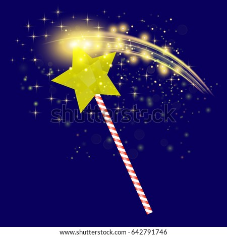 vector realistic magic wand