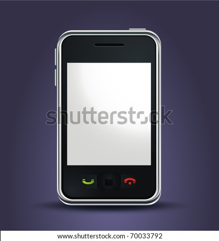 vector realistic mobile phone
