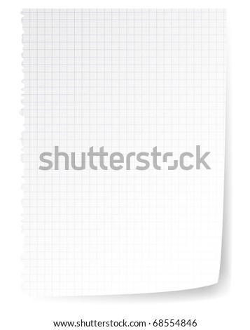 Vector realistic paper sheet