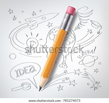 vector realistic pencil on