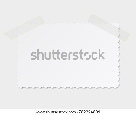 vector realistic photo with the ornament on the edge of the fixed transparent tape