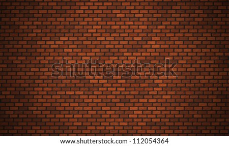 Vector realistic red brick wall, Eps10 background.