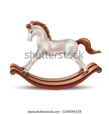 vector realistic rocking horse