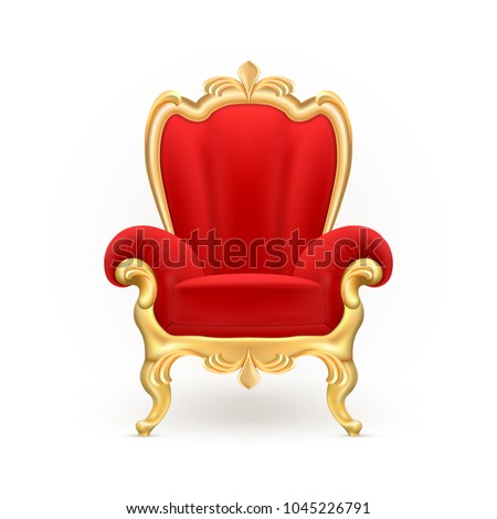 vector realistic royal throne