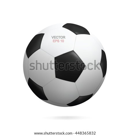 Shutterstock Vector realistic soccer ball isolated on white background.