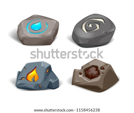 vector realistic stones with