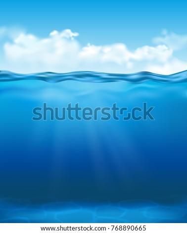vector realistic underwater