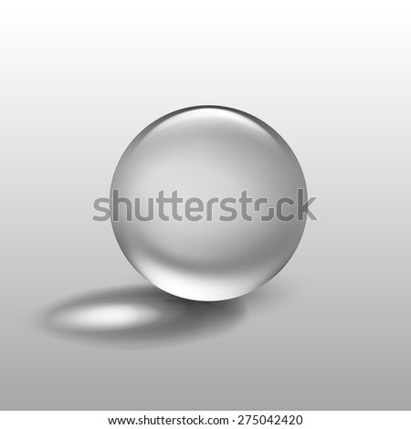 vector realistic water glass