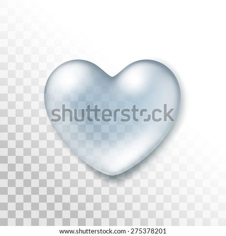 vector realistic water heart
