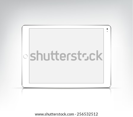vector realistic white tablet