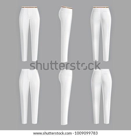 vector realistic white trousers