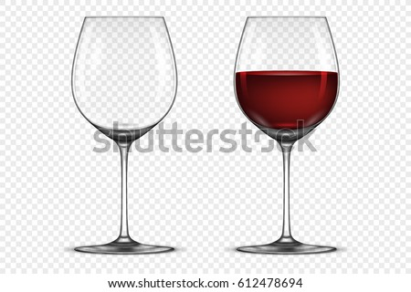 e6d3726f73d Red wine glass on transparent background - Download Free Vector Art ...
