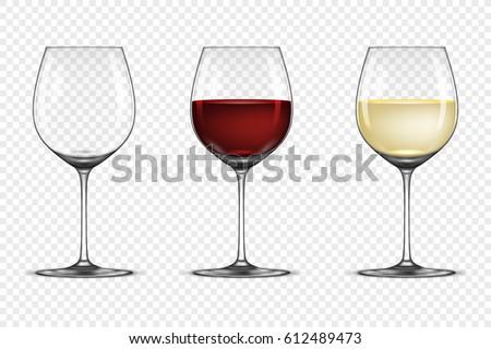 vector realistic wineglass icon