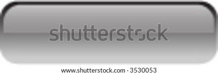 Vector Rectangular Glass Button - stock vector
