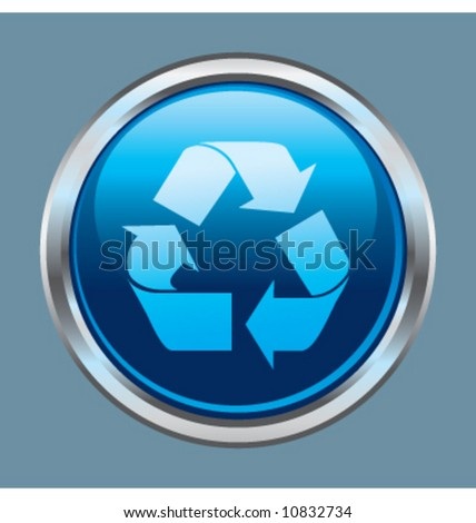 Vector recycle button icon symbol