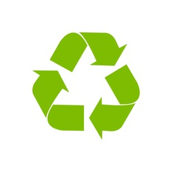 vector recycle symbol. recycle vector icon.  green icon.