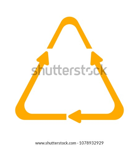 vector Recycling icon, recycling symbol, reuse shape