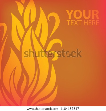 Vector red autumn floral background with leafs. Thanksgiving season design