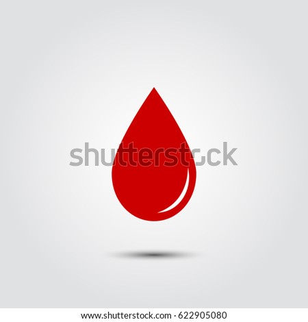 vector red blood drop icon